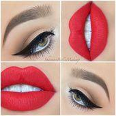 #Deko #IDE #Lippen #Lippenmakeupideen #MakeupIdeen #rote