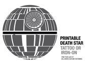 Baby Bump Printable Death Star tattoo or iron-on