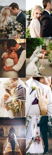 20 romantische Braut und Bräutigam Hochzeit Foto-Ideen