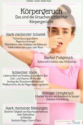 Körpergeruch: Welcher schlechte Körpergeruch über Ihre Gesundheit enthüllt | Krankheiten und Ursachen – Gesund & Schön
