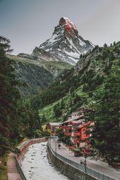 Zermatt City und Matterhorn in der Schweiz!   – Switzerland
