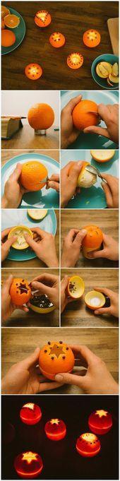 Weihnachtsschmuck basteln – kreative Bastelideen mit Orangen