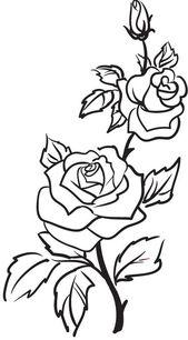 Rose Gliederung   Rose Umriss Tattoo, Blume Umriss Tatto… – ClipArt Best – ClipArt Best