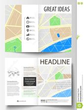 Business Templates For Bi Fold Brochure Magazine Flyer Or Intended For Blank City Map Template Best Professiona Bi Fold Brochure Business Template Brochure