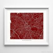 Osnabruck Map, Germany Print, Osnabruck Poster, Germany Art, Art Print Shop, Art Prints, Kids Room Decor, Wall Decor, Christmas Gift
