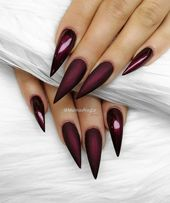60+ Trendy Burgundy Acrylic Coffin Nails Design You Should Try – Page 39 of 67