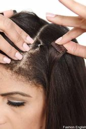 Step 23 : Use one hair elastic and an extension weft with a single clip.