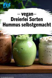 Die Spezialität aus dem Orient:  Hummus Trio – leicht gemacht – FIT FOR FUN