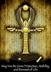Egyptian Ankh Symbol Of Life Tote Shopping Bag For Life Pagan Egypt Wicca