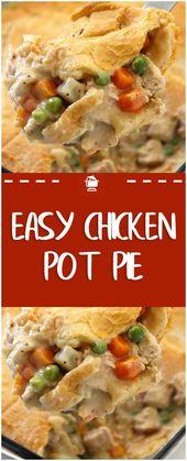 Easy Chicken Pot Pie#chicken #homemade