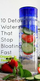 10 Detox Waters for Flatulence and Weight Loss – # 3daydetox # Bloating #De  – health-diet