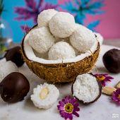 Gesunde Kokosnusskugeln – Kopfgeld- und Raffaellokugeln   – Gesunde Süssigkeiten ohne weissen Zucker