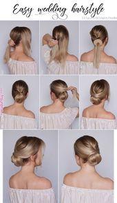 Schöne Frisur für eine Hochzeit ♥ | Schönes Haar im Jahr 2019 | Pinterest |… – FRUSUREN DEUTCHDE