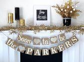 Bridal Shower Banner, Engagement Banner, Bride to Be banner, Soon to be Banner, Engagement Party Decor, Wedding Shower, Couples Shower Sign