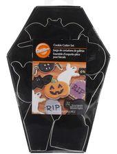Halloween Sarg Wilton Ausstecher Set Spinnenfledermaus Geister Katze Kürbis Sarg Kopf Stein Metall Ausstecher – Halloween Ausstecher