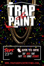 Trap Paint Party Invitation