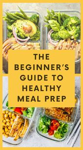 Meal Prep for Beginners: Healthy Eating
