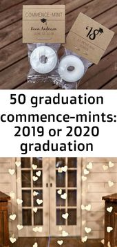50 graduation commence-mints: 2019 or 2020 graduation candy, graduation party decoration, graduati 2