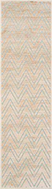 PAR356-3470 – Color: Stone, Aqua; Size: 5'3″ x 7'6″