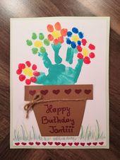 #Birthday card #Birthday #Basteln #with #children – event planning