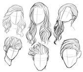 Verschiedene haar #figurierte Zeichnungen