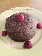 Bowlcake semoule, chocolat et framboises – Les recettes de Ninette
