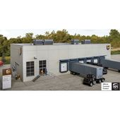 Walthers Cornerstone Ups Hub W Customer Center Structure Kit Ho Scale In 2020 Large Windows Ho Scale Brickwork