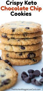 These are absolutely the best Low Carb/Keto Chocolate Chip Cookies that you are …