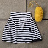 Kinderrock mit Knopfleiste aus altem Shirt nähen – Upcycling – kostenlose Anleitung