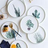 Botanischer Speiseteller – #botanisch #Dinner #teller … – #botanisch #Dinner    – meubles