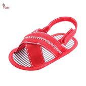 Pour 0-18 mois Bébé,Transer ® Joli bébé fille garçon Tissu sandales doux  unique anti-dérapant Sneaker (12 ~ 18 Mois, Rouge) - Chaussures transer (*…