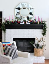 64 Christmas Fireplace Decorations