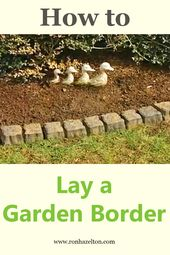 Lay edging blocks along flower beds to frame your garden with a lovely border. #…