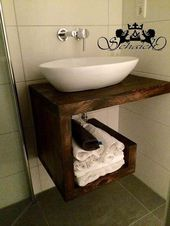 Upcycling! Exclusive washbasin, industrial design, solid, handmade, unique
