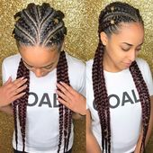 6 Feed-In Goddess Braids with Cornrows   – Hairstyles