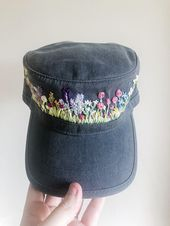 Wildflowers – Hand Embroidered Hat – Choctaw Tori – Hand Embroidery