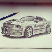 Hand Gezeichneter Ford Mustang Mit Bleistift Auto Gezeichnet Auto Zubehor Auto Bleistift Ford Geze In 2020 Auto Zeichnen Ford Mustang Neues Auto Kaufen