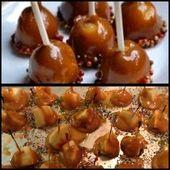 Pinterest schade. Meine Version von Mini Caramel Apples. Meins ist das unterste bi …   – Make Good Things