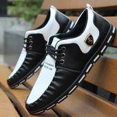 GOXPACER otoño hombres zapatos 2018 Mocasines hombres zapatos casuales estilo británico populares hombres pisos moda cuero pequeño zapatos solos Nuevo   – jjjkj