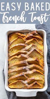 Basic Brioche French Toast Bake