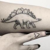 maryellengroundwater || 2 in 1! Stegosaurus and lil finger tattoo on Sanaz (I …