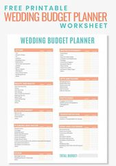 Are you planning a wedding on a budget? Then grab this Free Printable Wedding Bu…