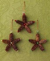 Decoración navideña con piñas muy fácil de hacer   – Basteln