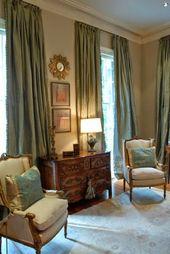 ANTIQUE BLUE SILK curtain dupioni silk window dres…