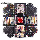OurWarm DIY Überraschung Liebe Explosion Box Geschenk Explosion für Jubiläum Sammelalbum DIY Fotoalbum Geburtstagsgeschenk 15x15x15cm   – Zukünftige Projekte