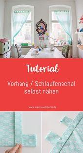 DIY instructions: sew curtain / loop scarf yourself – Berlin creative laboratory
