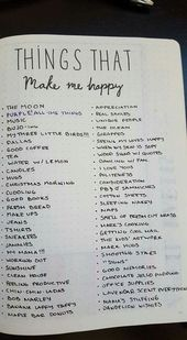 Dinge, die mich glücklich machen – geborgte Verbreitung