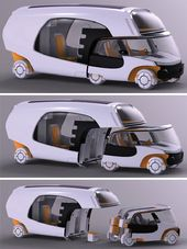 The Colim Modular Camper is a car, a trailer and a motorhome all in one.