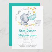 Baby Showers Twinkle Twinkle Twinkle Little Star Elephant Baby Shower Invitation #elephant #baby #sho...