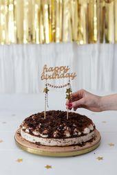 3 DIY-Ideen: Geburtstagstorte dekorieren – Freshly In Love Blog – Back Ideas – … – Einfach Torten Rezepte